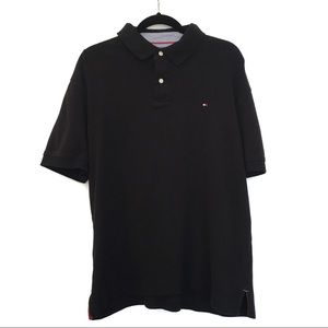 [TOMMY HILFIGER] Classic Black Polo Golf Shirt XL